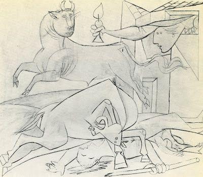 artefatti .: Picasso - Schizzi per Guernica