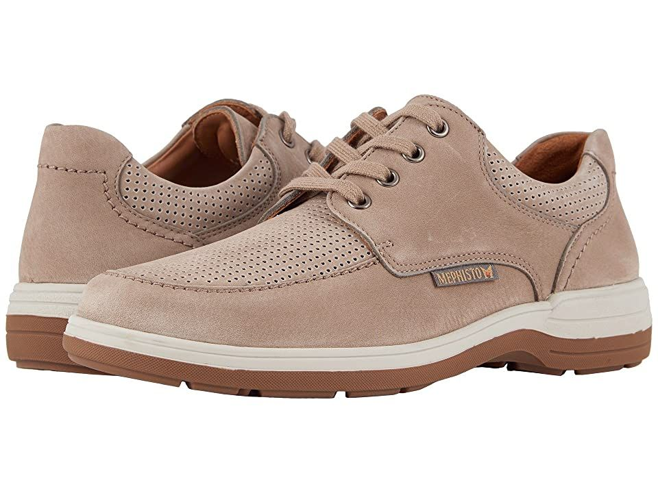 Mephisto Douk Perf (Sand Sportbuck) Men's Lace up casual Shoes. The Mephisto Douk Perf will pair handsomely with jeans and a nice button up shirt. Soft suede upper features a calfskin portion that is lightly perforated for extra breathability. Lace-up closure for an adjustable and secure fit. Padded collar and tongue. Smooth leather lining provides additional comfort for all-day wear. Exchangeable footbed with integrated SOFT- #Mephisto #Shoes #ClosedFootwear #Laceupcasual #Beige