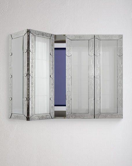 Venetian Style Mirrored Flat Screen Tv Wall Cabinet Hiding Tv Tv