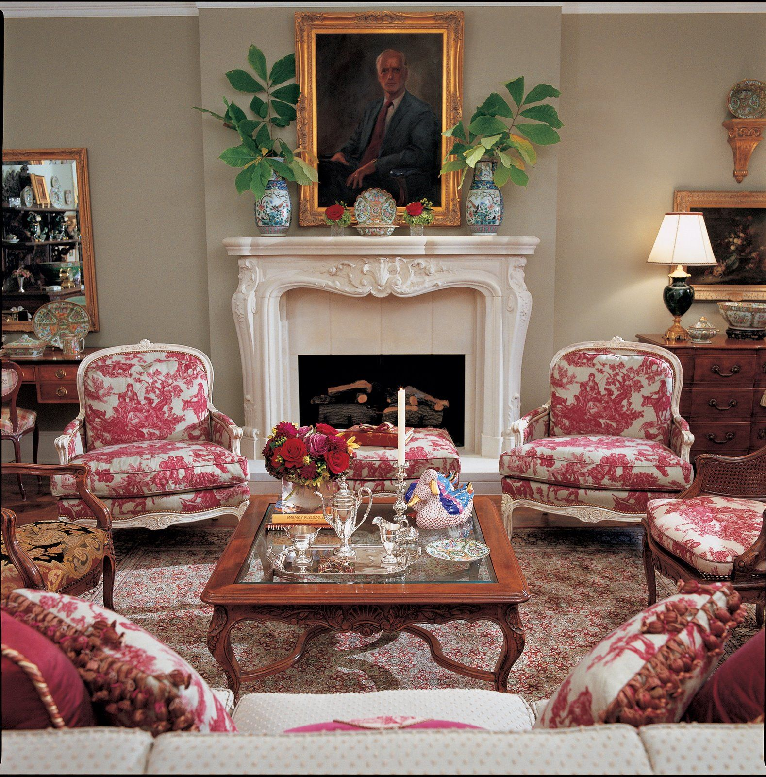 Bedroom Decorating Ideas Totally Toile: Eye For Design: Decorating With Red Toile-Charles Faudree