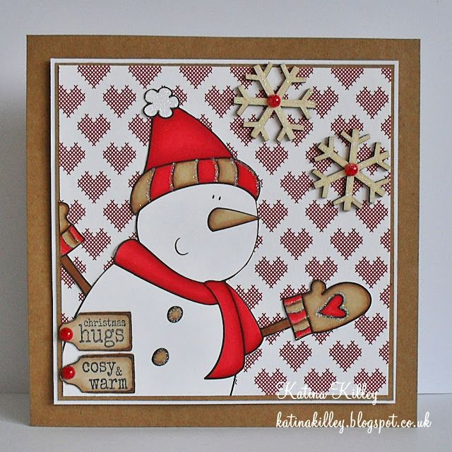 handmade snowman card ... beautifully executed ... like the design ...