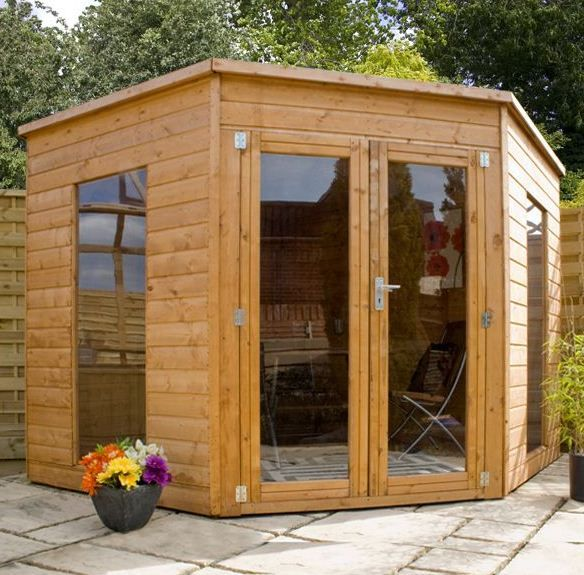 corner sheds from gardeneco garden corner sheds come in a variety of sizes and at - Garden Sheds With A Difference