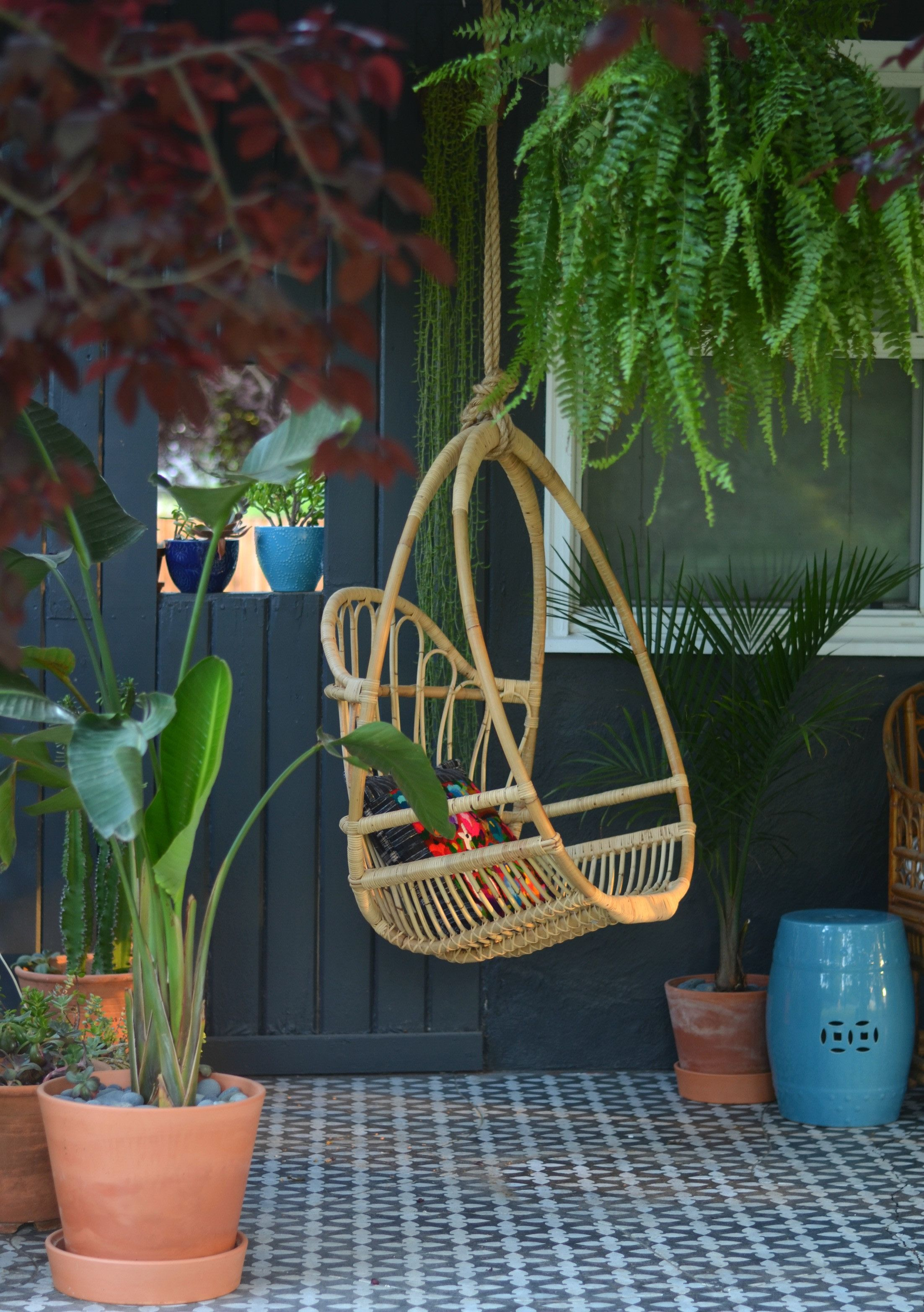 The One Thing Your Patio Is Missing Hanging chair