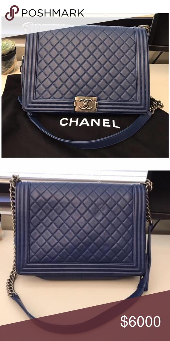 cd8027f180c6 Spotted while shopping on Poshmark: 🆕 CHANEL Le Boy Lambskin leather Large  Purse! #poshmark #fashion #shopping #style #CHANEL #Handbags #largepurse