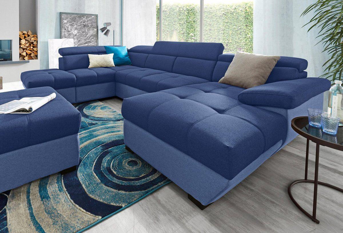 Wohnlandschaft Wahlweise Mit Bettfunktion Couch Home Home Decor