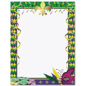 Mardi Gras Affair Border Papers Mardi gras, Clip art free and - paper direct templates