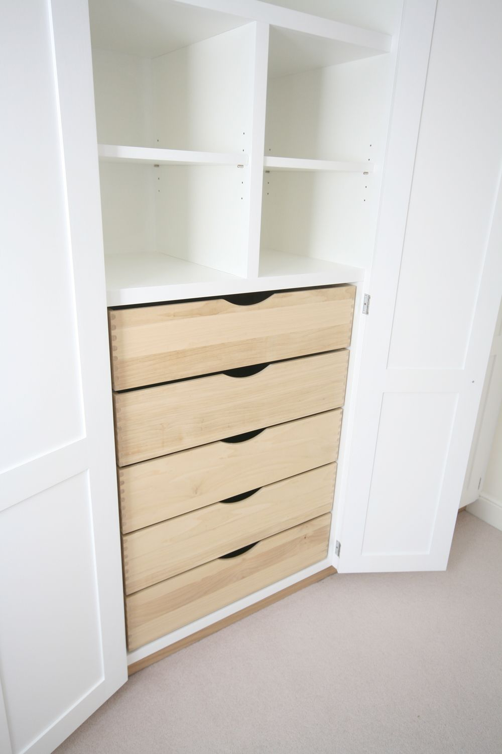 Image result for drawers in wardrobe