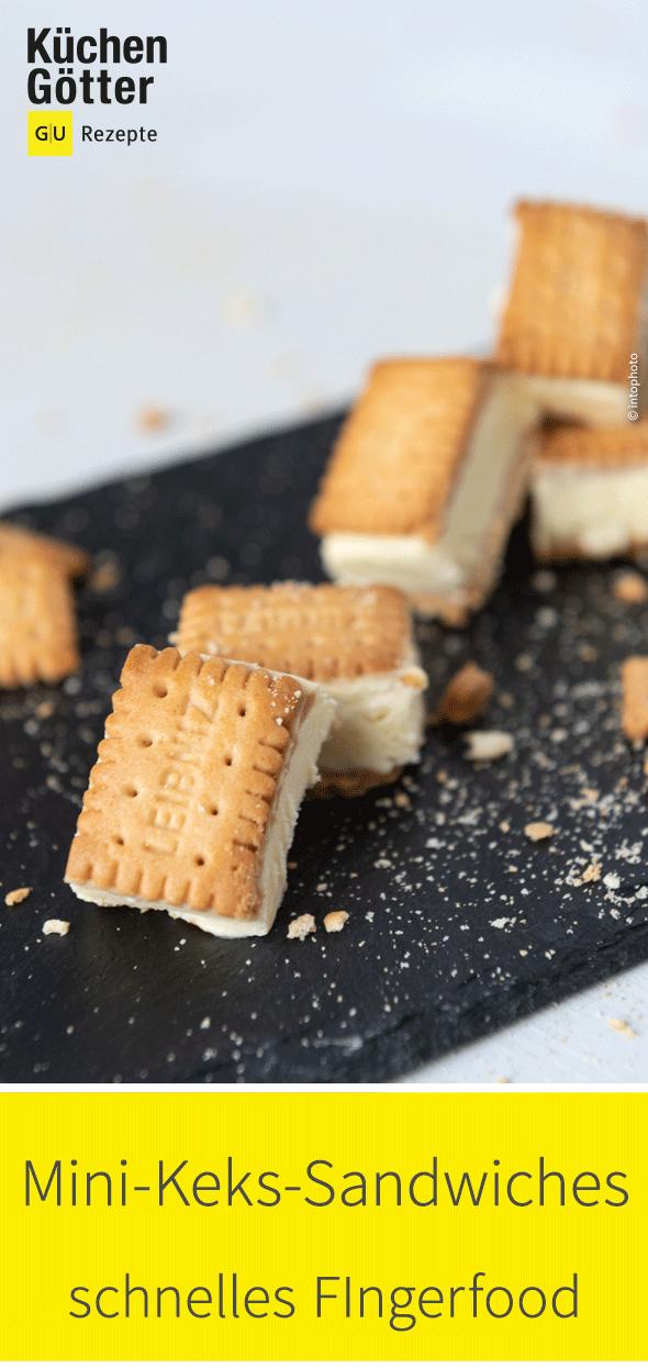 Schnelle Mini Keks-Sandwiches #appetizersforparty