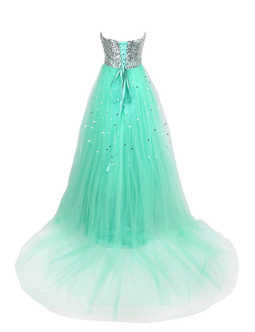 Dresstells long tulle dress with beadings brithday dresses prom