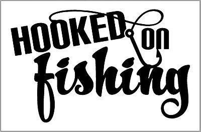 Hooked On Fishing Car Decal Window Body Boats Seat Boxes - Decals for boat seats