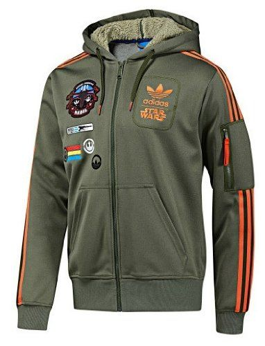 4596e888f942e Amazon.com: Star Wars Adidas Originals Han Solo Track Jacket Hoodie ...