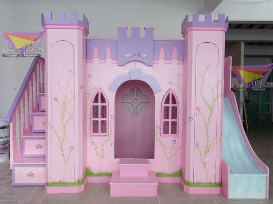 Camas literas para ni as con forma de castillo a medida for Habitaciones nina baratas