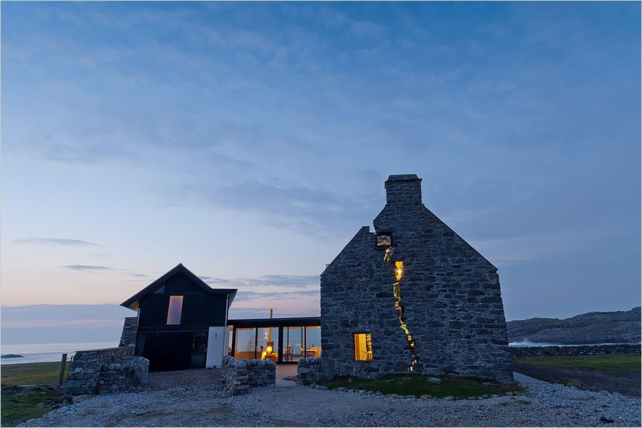 In Scotland a Modern Farmhouse Rises From Ruins Modern