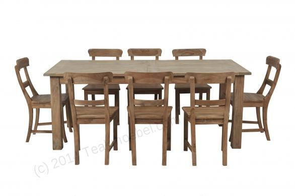 Teak Esstisch Ausziehbar 200 250 300x100 12 Stühle Image 3