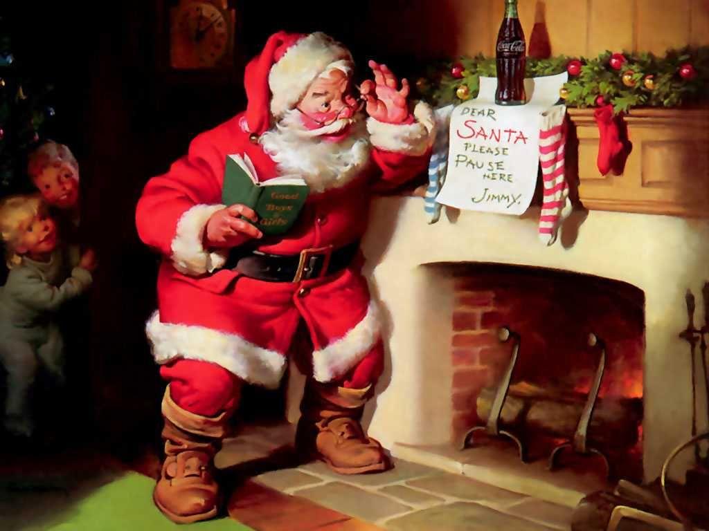 coke santa characters pinterest coke christmas wallpaper hd