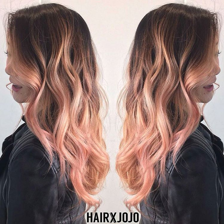 Look At This Fantastic Rose Gold Balayage Hairxjojo Did Using Pastel Red Pastel Red Is Our Best Kep Hair Color Rose Gold Hair Color Flamboyage Overtone Hair