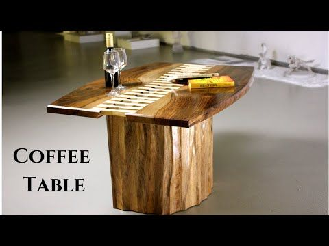 """"""" Stitched """" Coffee Table / Making Walnut Coffee Table w ..."""