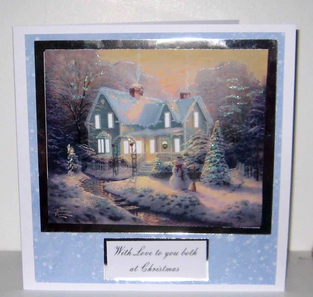 Thomas Kinkade Christmas Card by me! | Thomas Kinkade X-Mas Cards ...