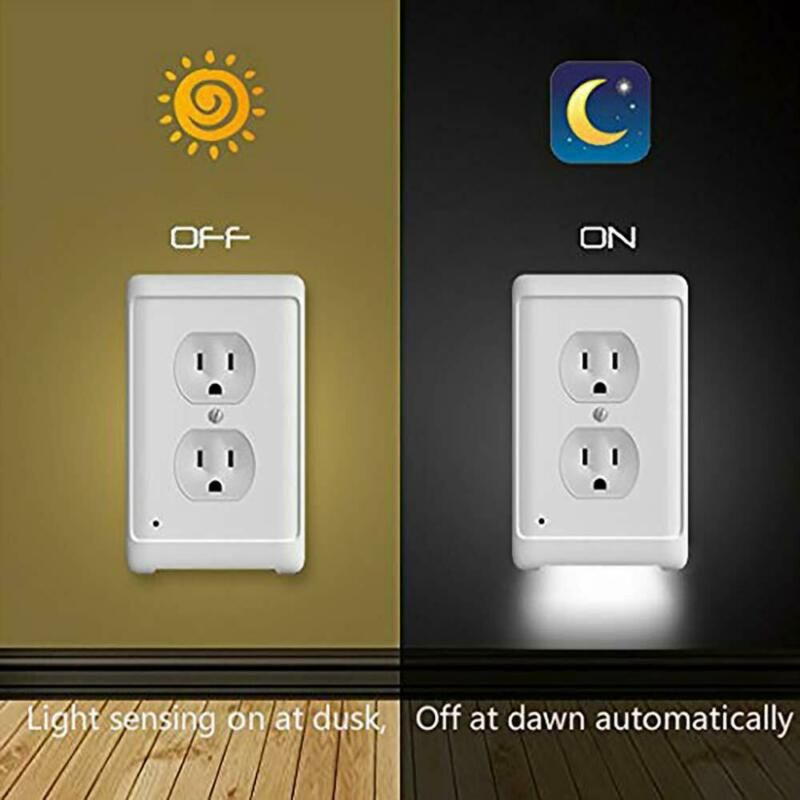 Outlet Wall Plate With Led Night Lights 5 Pcs Purplebubblings Com In 2020 Led Night Light Plates On Wall Night Light