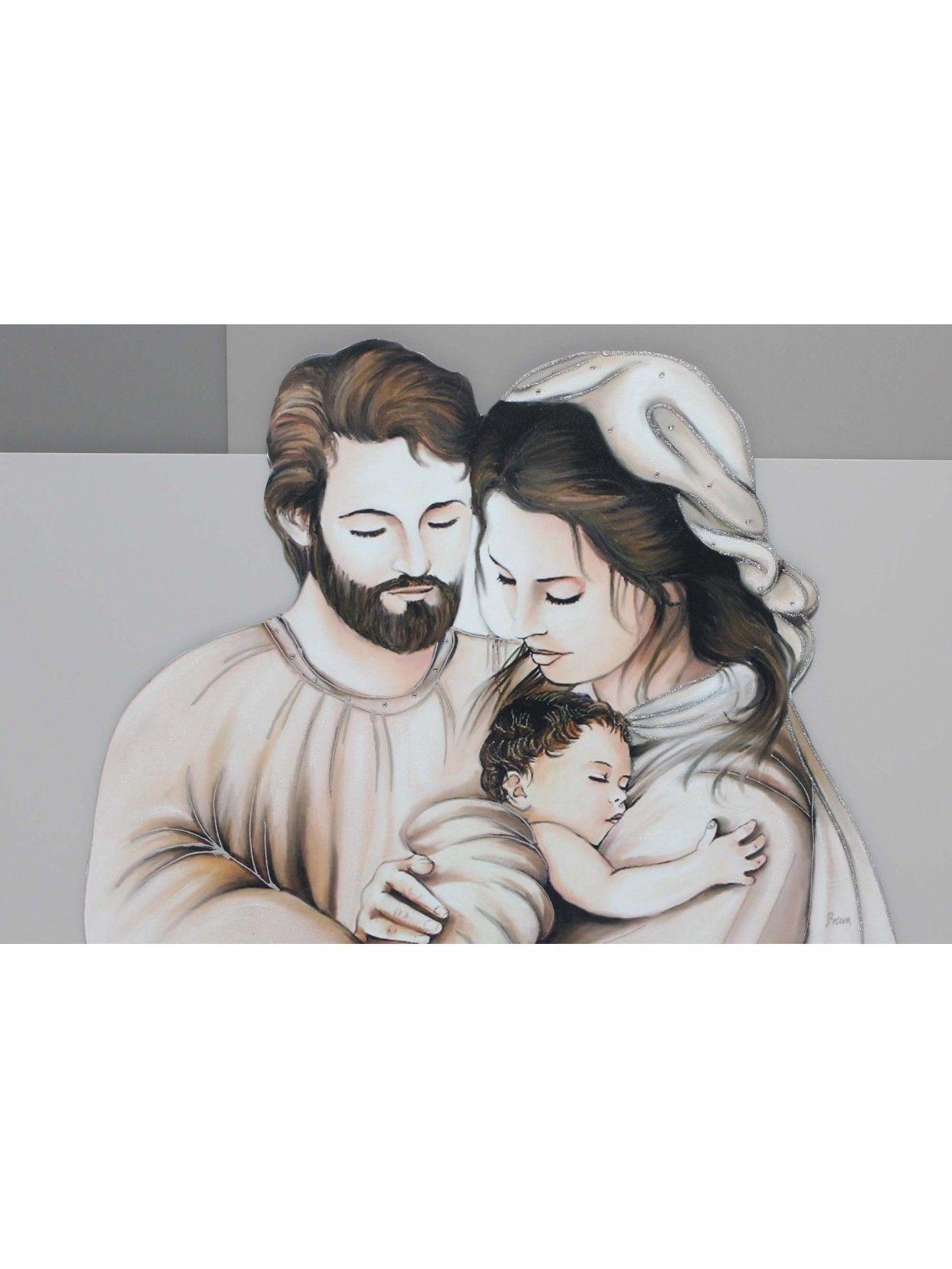Quadro Sacra Famiglia Moderno.Capezzale Quadro Moderno 60x90 Pannelli In Legno Sacra