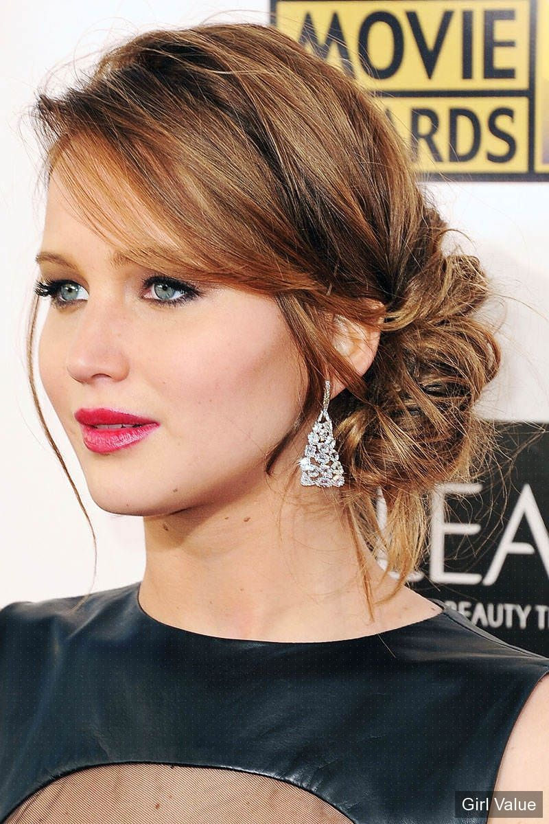 jennifer lawrence hairstyles in black dress photos