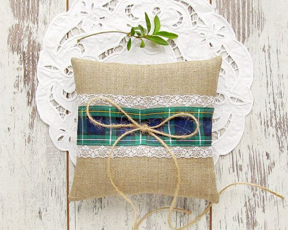 Ring bearer pillow. Change burlap to white