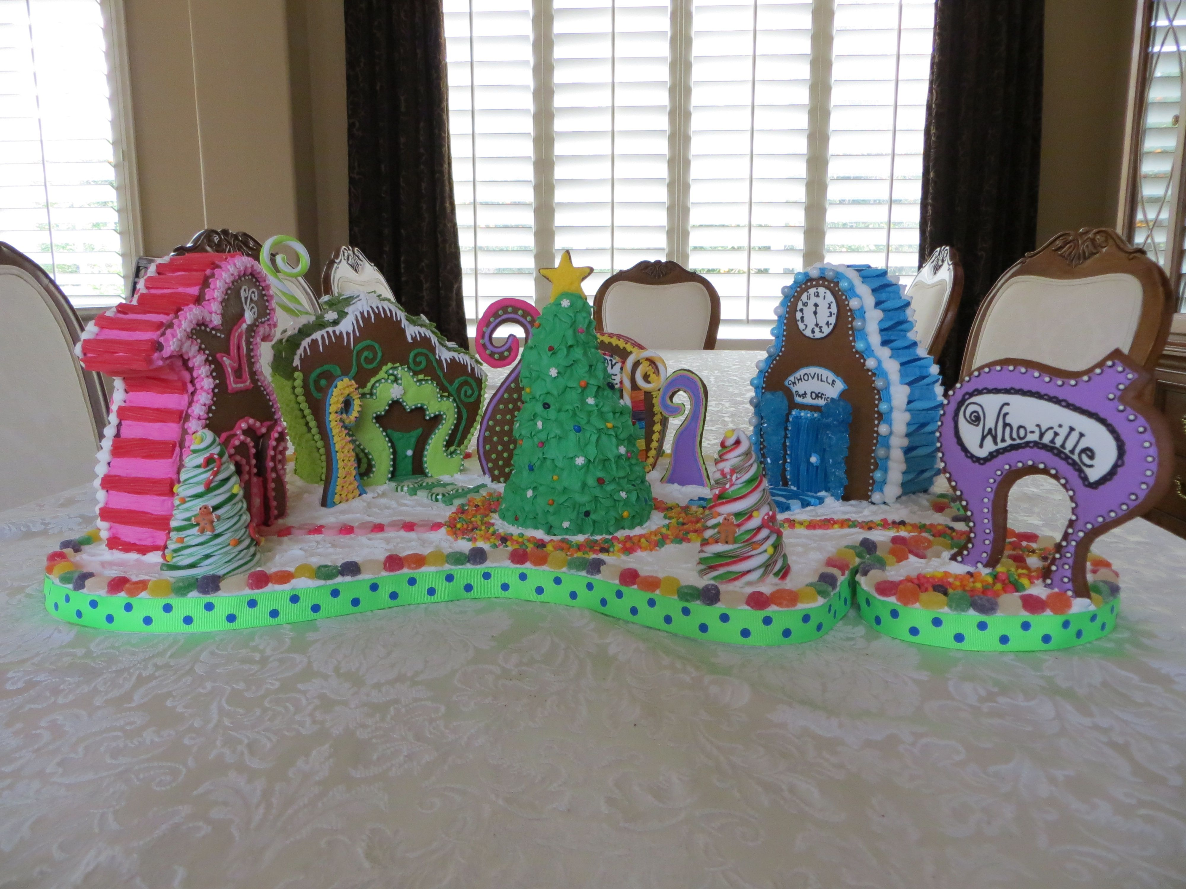 whoville gingerbread house template  Whoville Gingerbread House Village | Gingerbread house ...