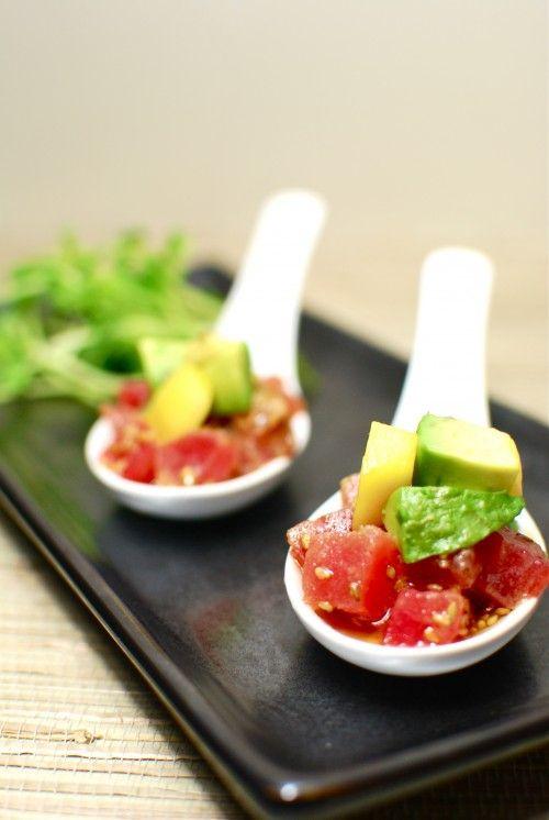 Tuna Tartare with avocado | Recipes, Appetizer recipes, Food