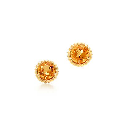 Tiffany Sparklers Earrings In 18k Gold With Citrines