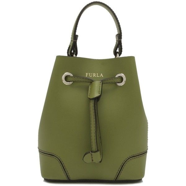 mini Stacy bucket bag - Green Furla