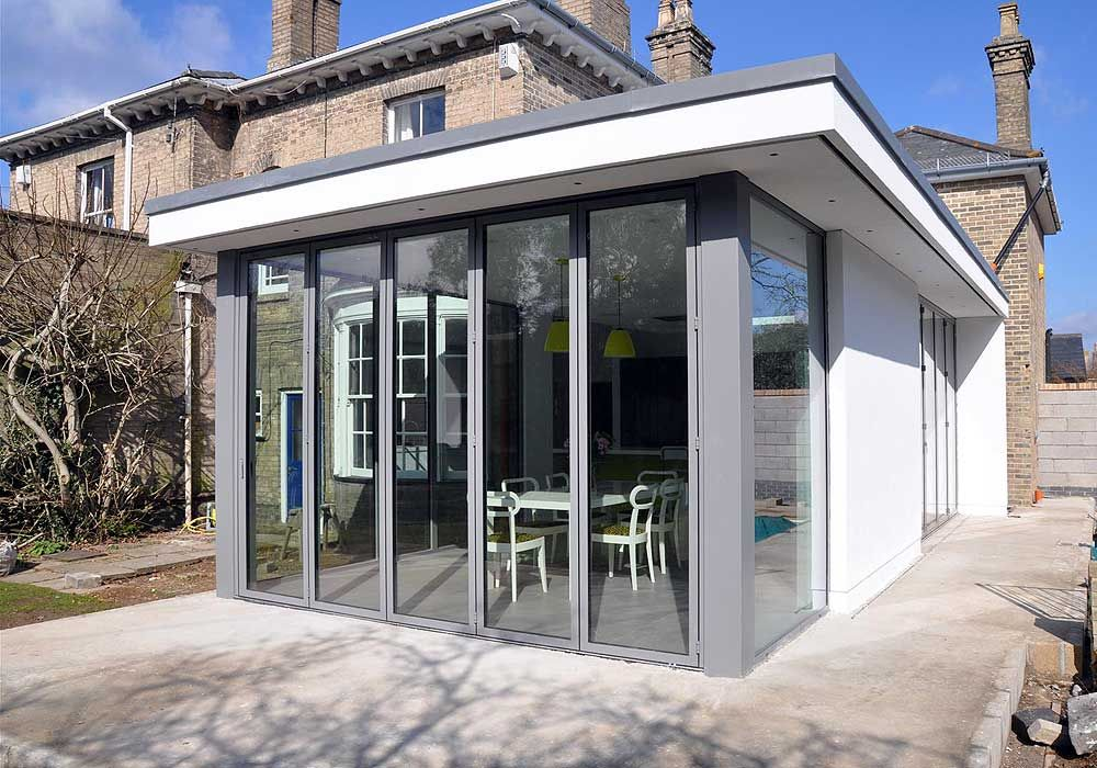Image Result For Floor To Ceiling Kitchen Windows Terrace Flat Roof Extension Roof Architecture Modern Roofing
