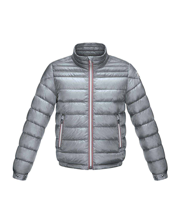 e4b837dd8 Daniel Long Zip-Front Lightweight Down Puffer Jacket Gray Size 2-6 ...