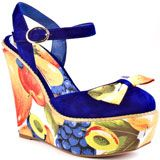 Shelly's Of London's Multi-Color Belle - Blue for 114.99 direct from heels.com