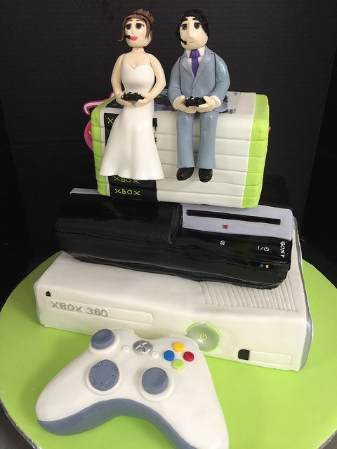 Play Station And Xbox Wedding Cake By Exclusive