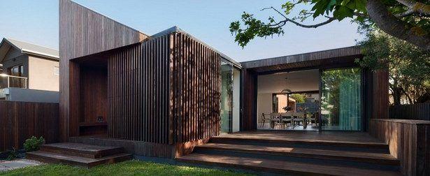 Splendide maison bois et pierre contemporaine de bord de mer en Norvège