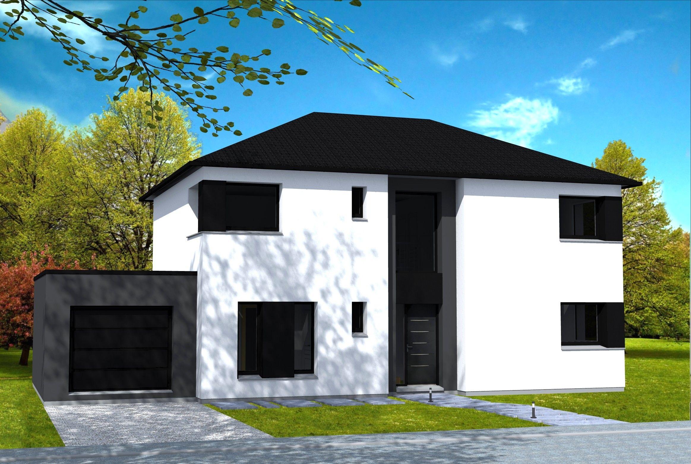 facade maison grise et blanche Ansprechend Facade Maison Blanche Et Grise 96