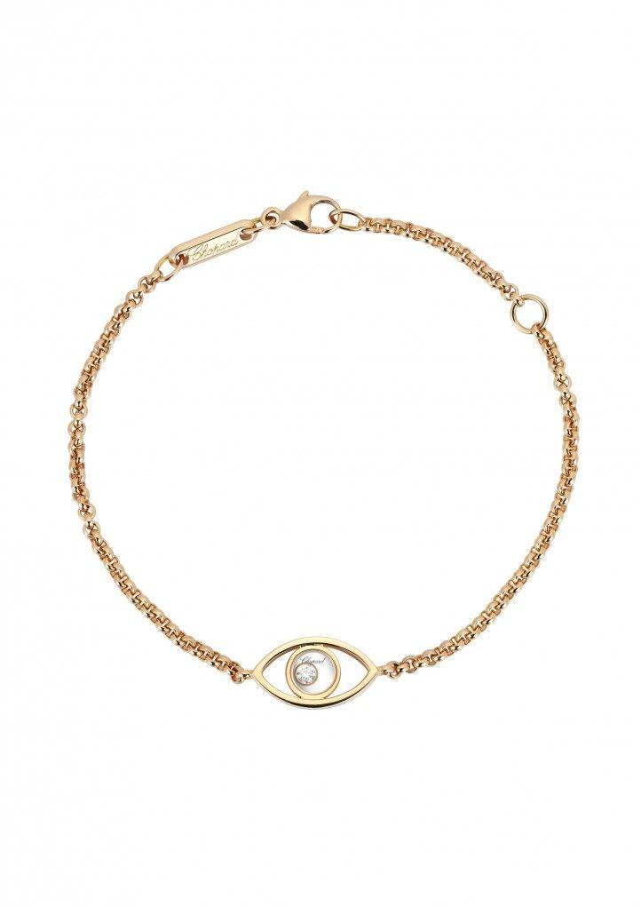Chopard Happy Diamonds 18-karat Rose Gold Diamond Bracelet MreMGnG