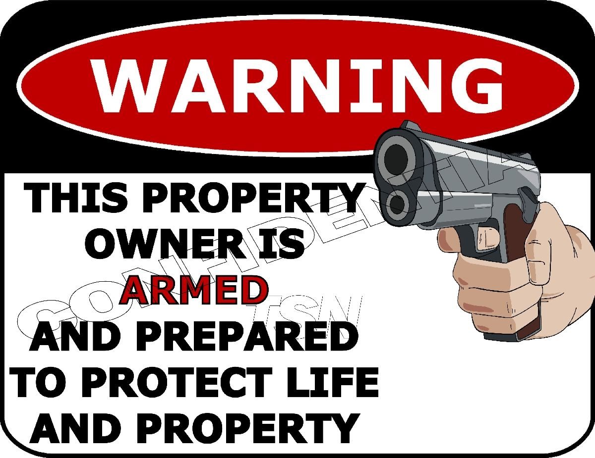 Top Shelf Novelties No Trespassing This is Not A Gun Free Zone Funny Security