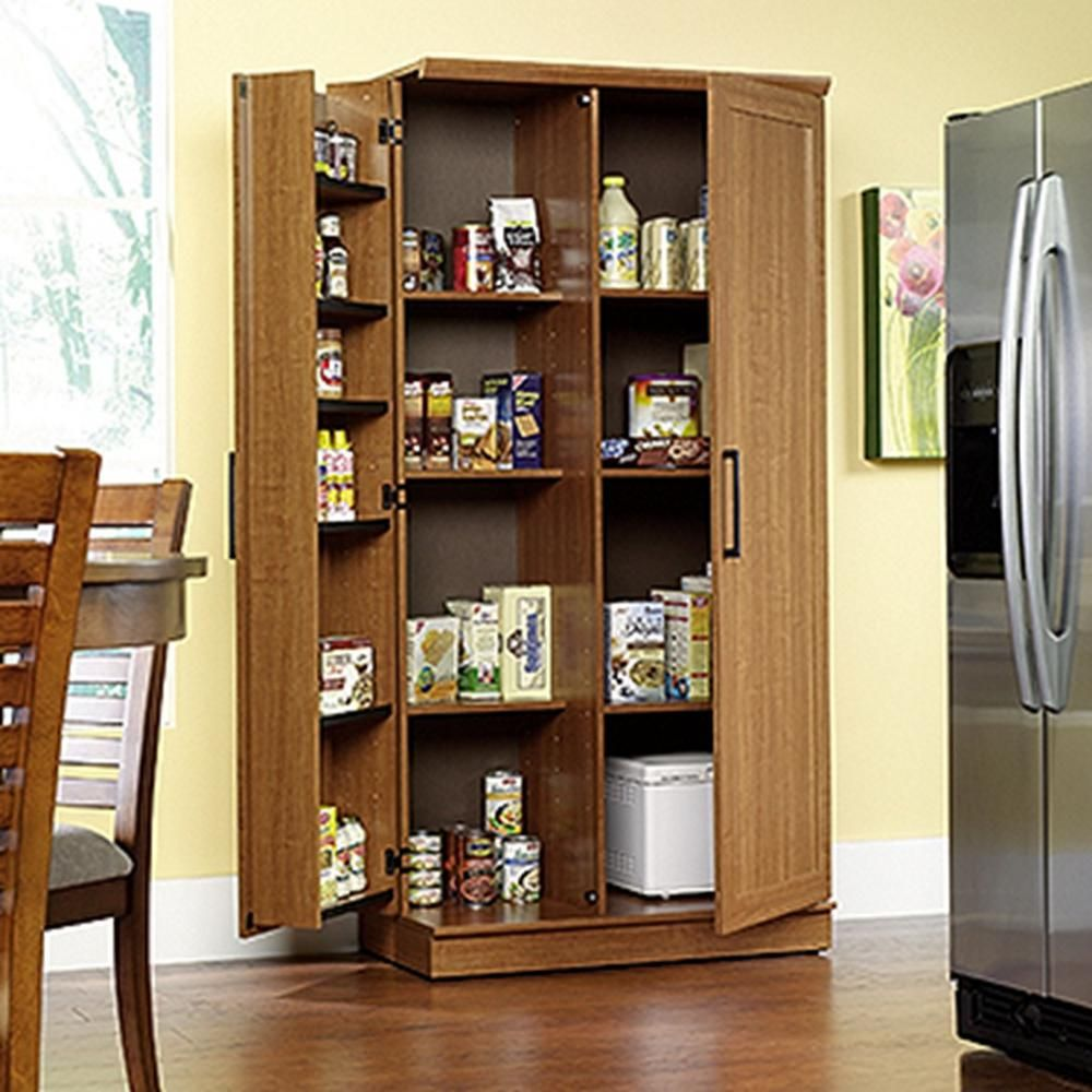 Tall Kitchen Cabinet Storage Food Pantry Wooden Shelf Cupboard Wood Organizer In Home Garden Furniture Cabinets Cupboards
