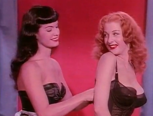 Bettie Page and Tempest Storm. | Bettie page