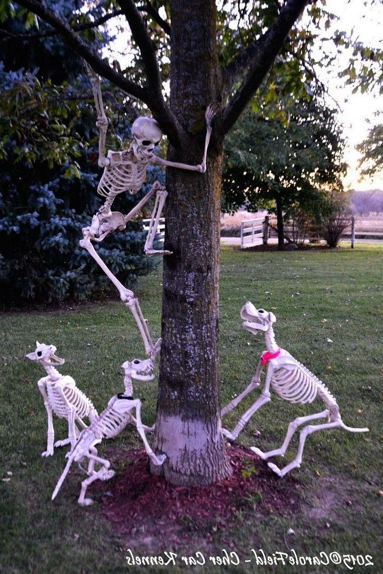 45 Optimum Halloween Decoration Ideas That Must You Try Scary Halloween Decorations Outdoor Halloween Halloween Skeletons