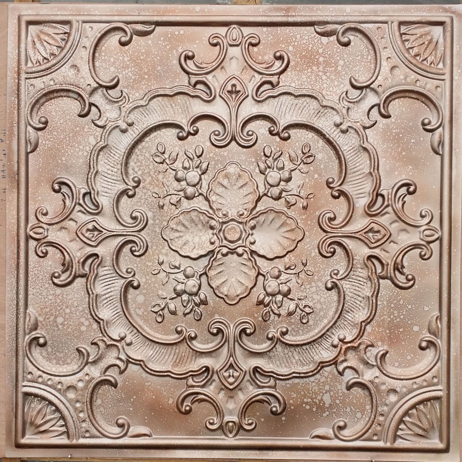 Pl19 faux tin finish metalline copper ceiling tiles mix metal 3d pl19 faux tin finish metalline copper ceiling tiles mix metal 3d embossed photography background wall panels dailygadgetfo Image collections