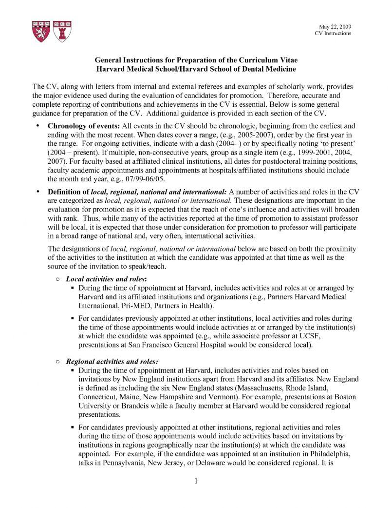 Harvard Resume Sample.Cv Template Harvard 1 Cv Template Student Resume Resume