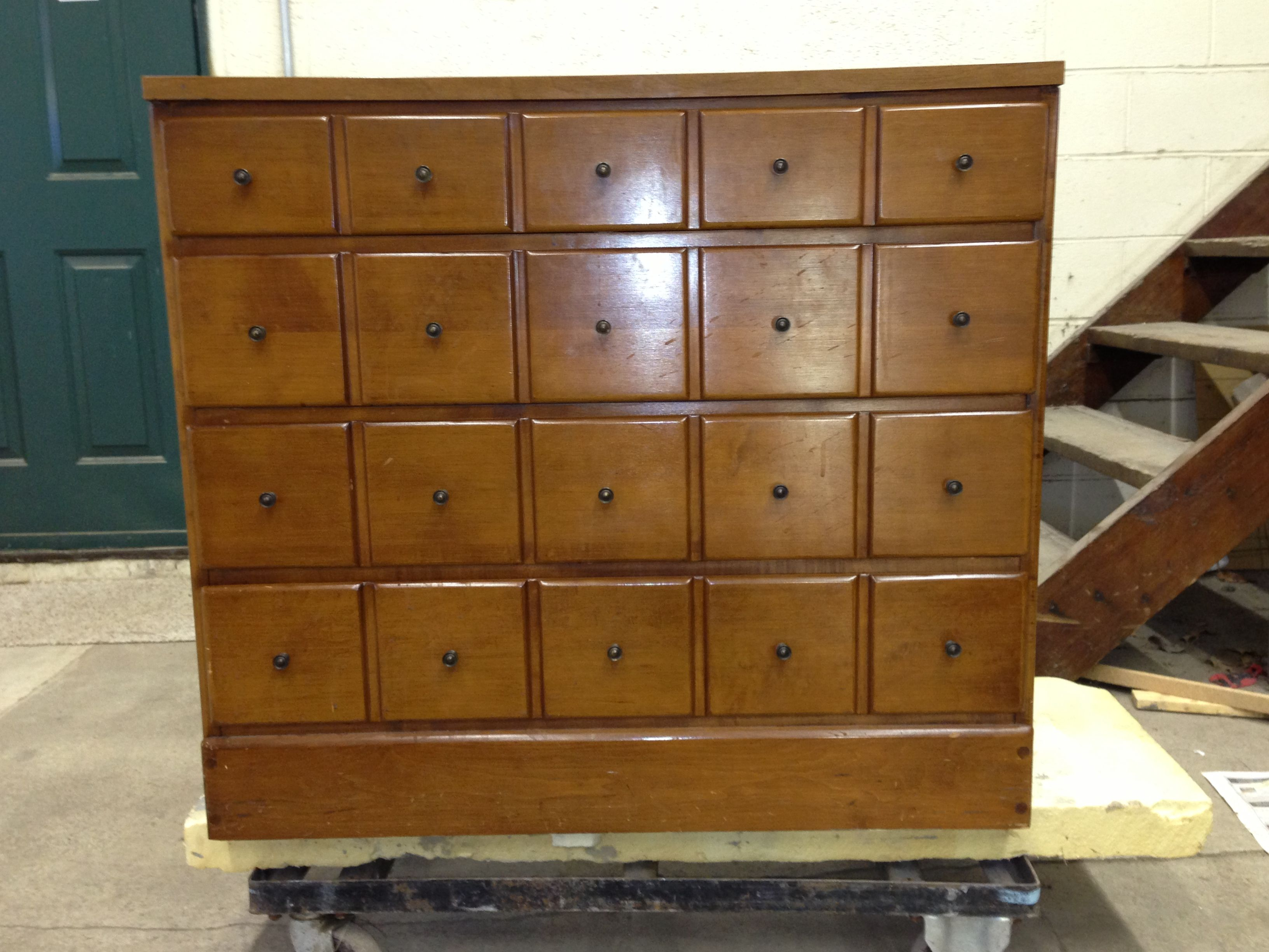 1950u0027s Maple 5 Drawer Cabinet Donu0027t They Look Like Little Spice Drawers?