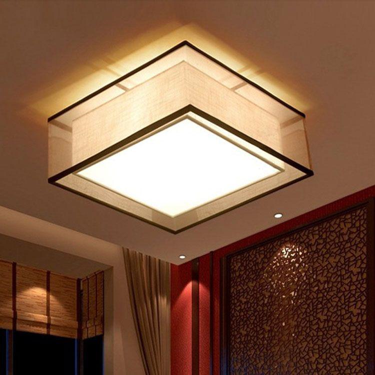 Chinese doek ronde Plafondlampen Landelijk woonkamer restaurant ...