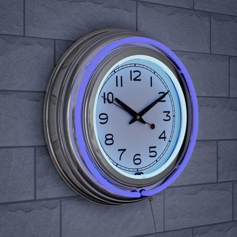Stoneboro 14 5 Wall Clock In 2020 Retro Wall Clock Wall Clock Clock