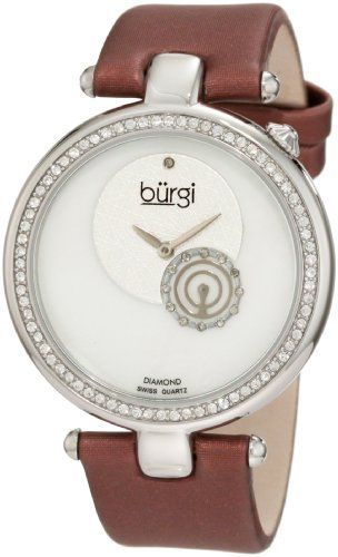 Burgi Womens BU42BUR Round Swiss Quartz Dazzling Diamond Watch ** Find out more about the great product at the image link.