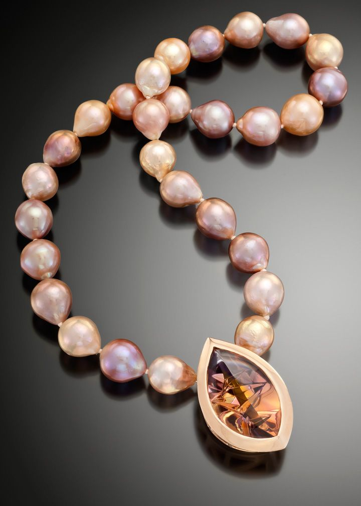 Sunset Pearl And Ametrine Necklace Jewelry In 2019