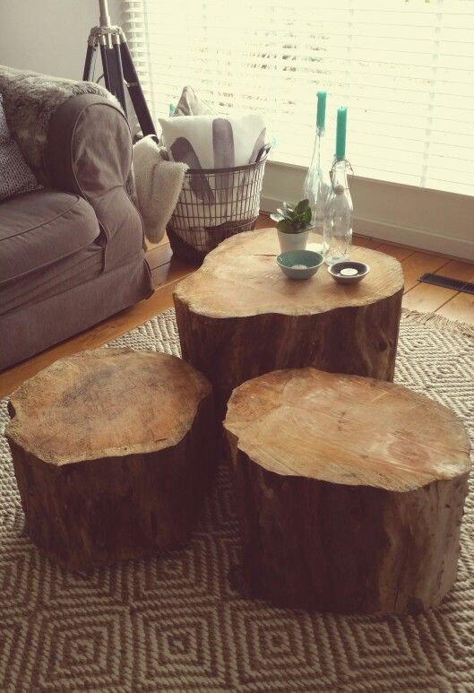 Coffee Table Made Of Large Pieces Oak Tree In 2019