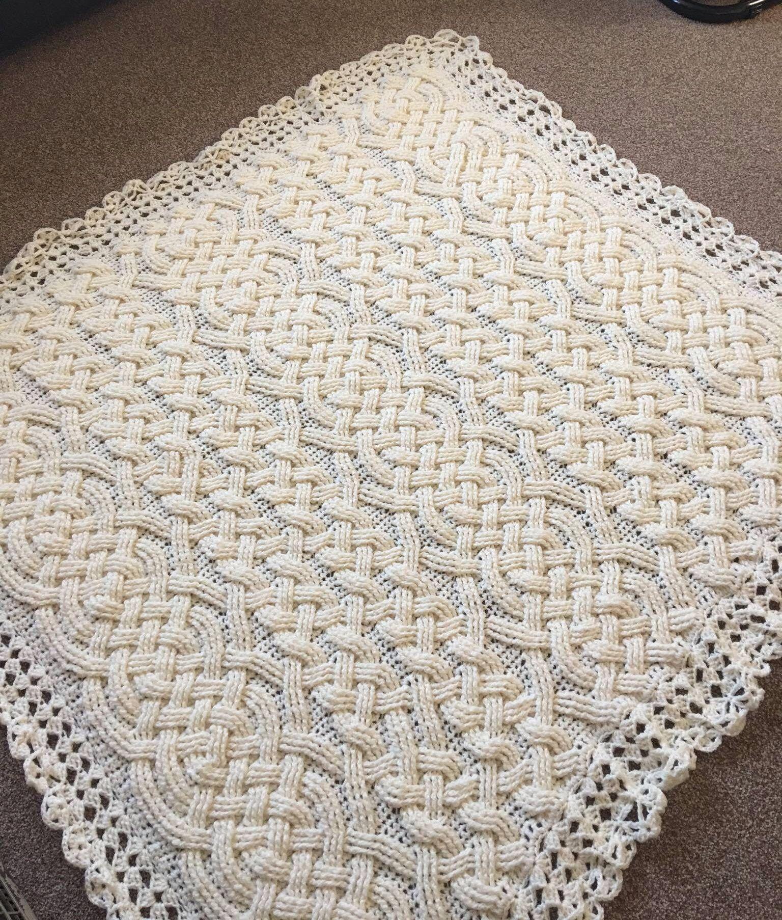 Crochet Blanket Pattern, Stonehaven Braided Cable Aran Blanket ...